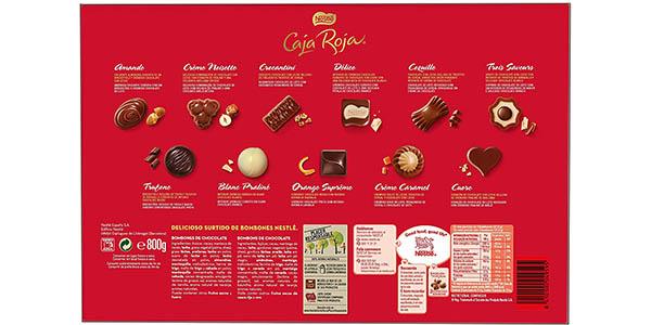 Pack 2xNestlé Caja Roja Bombones de Chocolate de 800 gr en Amazon