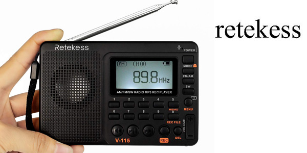 Radio Portátil digital Retekess V115 barata en Amazon