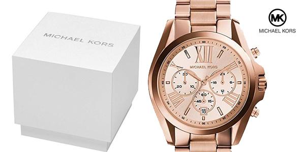 8436fdeb4b75 Reloj analógico de cuarzo Michael Kors MK5503 Bradshaw para mujer barato en  Amazon