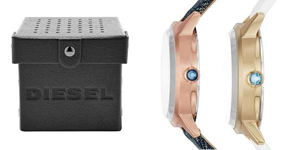 Reloj analógico Diesel Castilla DZ5566 en plata y denim para mujer chollazo en Amazon