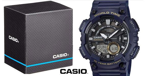 d0cca71d9a75 Reloj analógico digital Casio Collection AEQ-110W-2AVEF azul para hombre  barato en Amazon