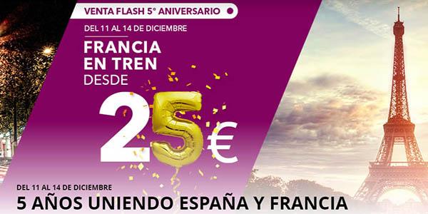 Renfe SNCF promoción 5º aniversario