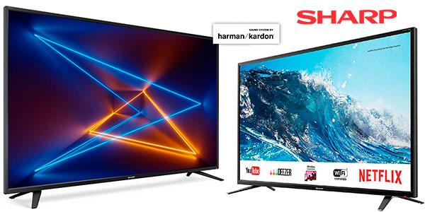 "Smart TV Sharp LC-43UI7252E UHD 4K de 43"" rebajada"