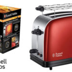Tostadora Russell Hobbs Colours flame Red de 1670 W y 2 ranuras barata en Amazon