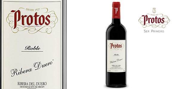 Botella Vino tinto Roble Protos de 75 cl barato en Amazon