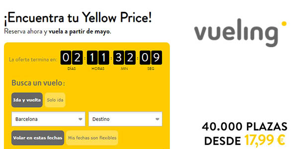 Vueling Yellow Prices diciembre 2018