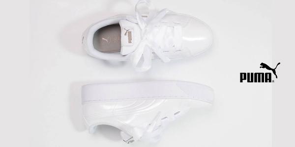 Zapatillas deportivas Puma Vikky Ribbon P blanco brillo para mujer chollazo en Amazon