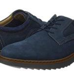Zapatos de cordones Clarks Un Geo Lace azul marino para hombre baratos en Amazon