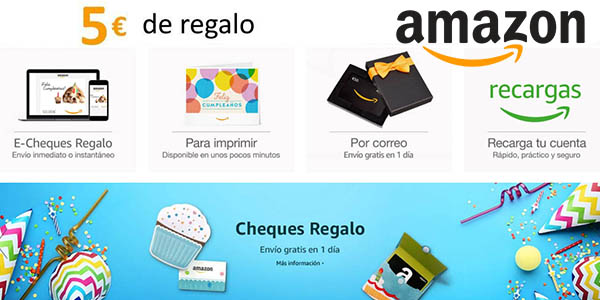 Cheque regalo amazon 2019 electronica
