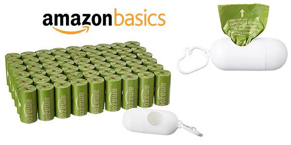 AmazonBasics bolsas para heces de perro baratas
