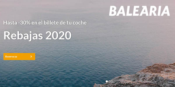 Baleària rebajas enero 2020