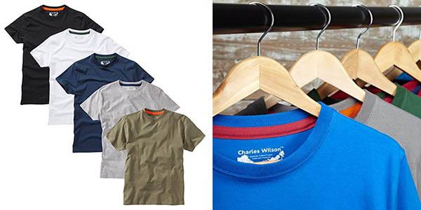 camisetas básicas Charles Wilson relación calidad-precio estupenda