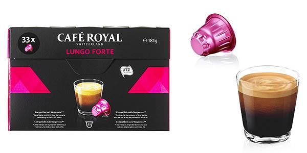 cápsulas de café Café Royal Lungo Forte intensidad fuerte chollo