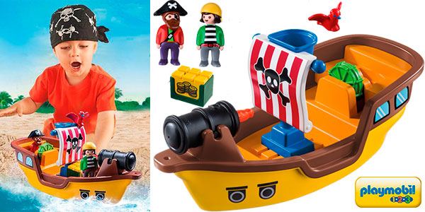 Chollo Barco pirata Playmobil 1-2-3 con 2 figuras