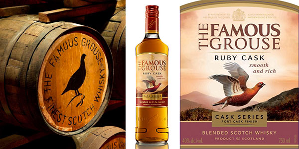 Chollo Whisky escocés The Famous Grouse Ruby Cask de 700 ml