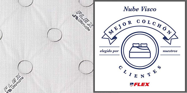 Chollazo Colchon Flex Ultimate Nube Visco Muelles Ensacados Con Gel