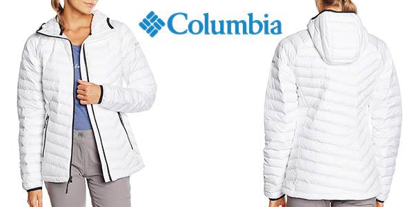 Chollazo Mujer Chaqueta Para Impermeable Powder Lite Columbia Hooded rraP0wqB