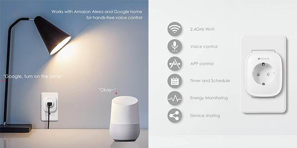 enchufe inteligente con aplicación móvil compatible con Alexa oferta