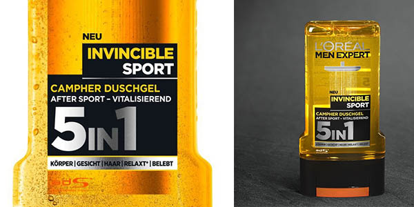 gel de ducha L'Oréal Men Expert Invincible Sport pack ahorro