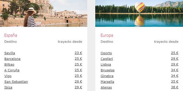 Iberia rebajas en vuelos por España y Europa enero 2019