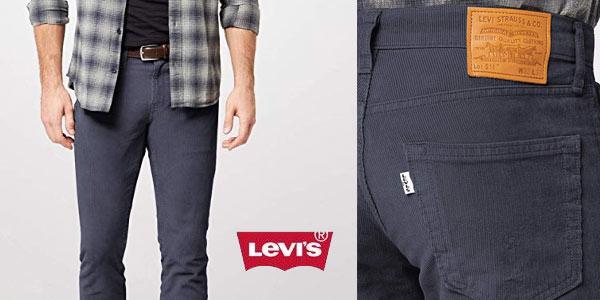Levi's 511 Slim Fit para hombre azul pana al mejor precio en Amazon