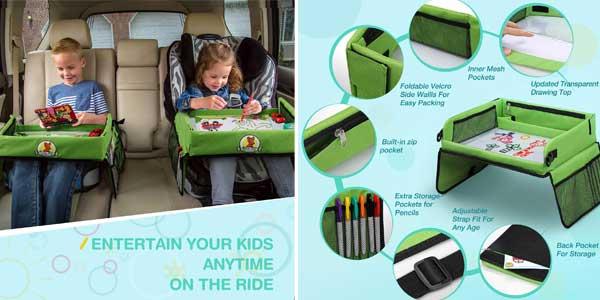 9dfaba90a6cf Mesa bandeja para niños Lenbest apta para sillita de coche y viaje chollazo  en Amazon