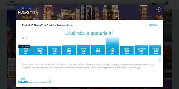 ofertas en vuelos por todo el mundo en KLM
