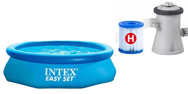 Chollazo piscina hinchable intex easy set con depuradora for Depuradora para piscina hinchable