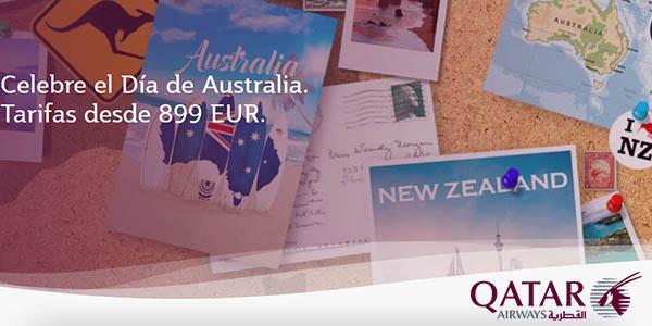 Qatar Airways vuelos baratos a Australia enero 2019