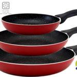 Set de 3 sartenes San Ignacio Red & Marmol rojo baratas en eBay