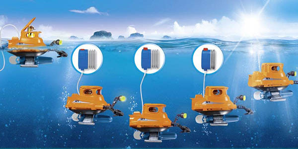 Submarino con motor de Playmobil en Amazon