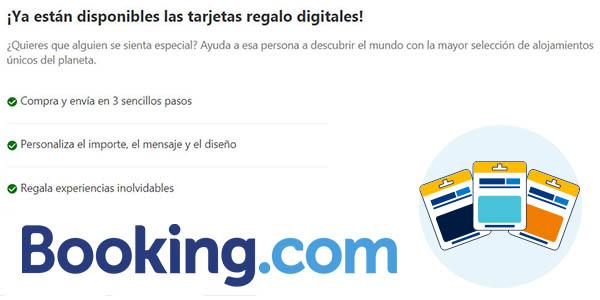tarjeta regalo digital Booking alojamientos baratos en todo el mundo
