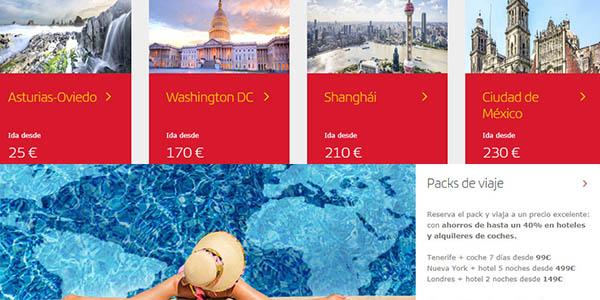 vuelos y vacaciones baratas en Iberia rebajas enero 2020