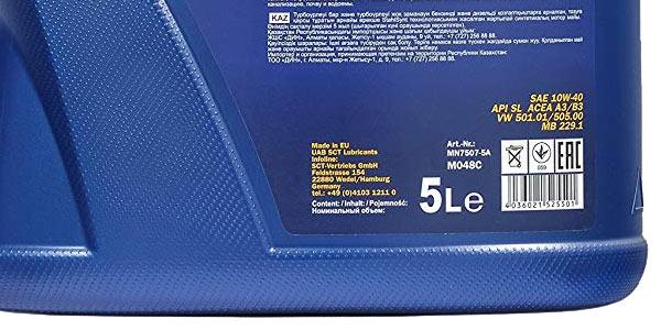 Aceite lubricante semisintético MANNOL 7507 Defender de 5L chollazo en Amazon