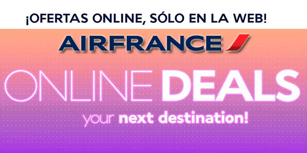 Air France ofertas online julio 2019