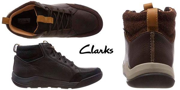 Chollo Botas Clarks Ashcombe Mid GTX para hombre baratas