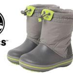 Botas de nieve Crocs Crocband LodgePoint Boot para niños baratas en Amazon