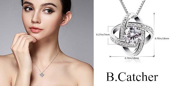 Collar B.Catcher Doble estrella en Plata de Ley 925 para mujer chollo en Amazon