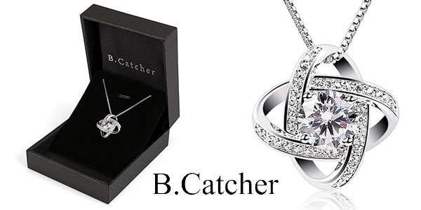 Collar B.Catcher Doble estrella en Plata de Ley 925 para mujer barato en Amazon