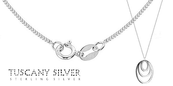 Cadena Tuscany Silver con colgante de plata esterlina de esferas concéntricas chollazo en Amazon