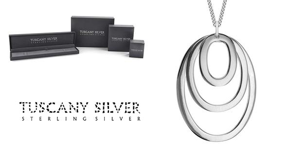 Cadena Tuscany Silver con colgante de plata esterlina de esferas concéntricas barata en Amazon