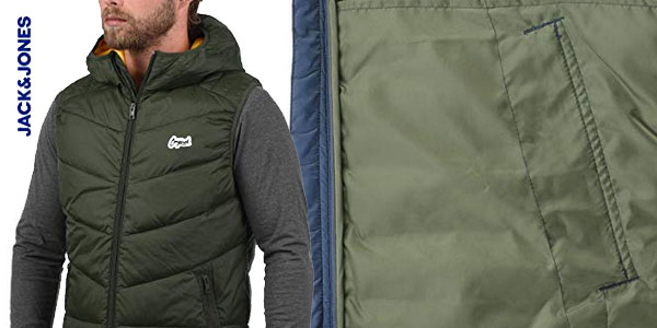 Chaleco con capucha Jack & Jones Outerwear para hombre chollo en Amazon