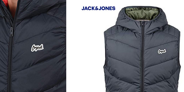 Chaleco con capucha Jack & Jones Outerwear para hombre chollazo en Amazon