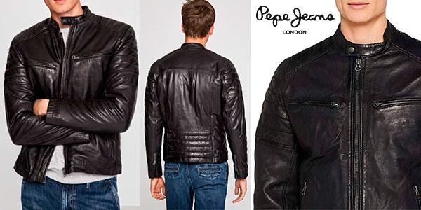 e2f0dcf8c16 Chollazo Chaqueta de cuero Pepe Jeans Keith para hombre por sólo 116 ...