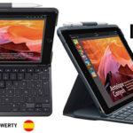 Chollo Funda Protectora Logitech Slim Folio con teclado Bluetooth para iPad