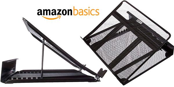 Chollo Soporte AmazonBasics ajustable ventilado para portátil