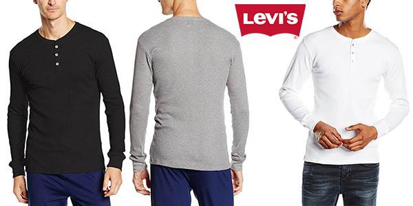 Levi's 300ls Long Sleeve Henley 1p camisetas basicas baratas