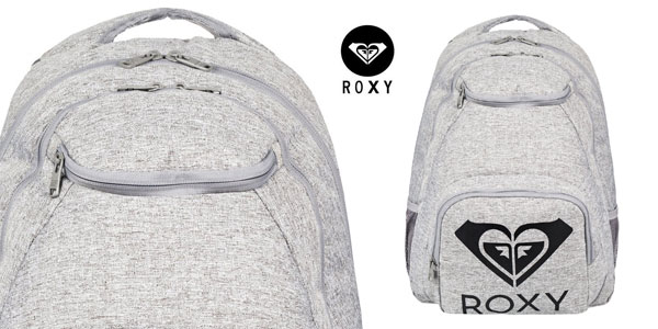 Mochila mediana Roxy Shadow Swell Solid de 24 L en gris barata en Amazon