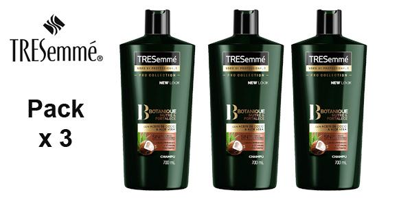 Pack x3 Champú TRESemmé Botanique Aceite de Coco y Aloe Vera x 700 gr/ud barato en Amazon