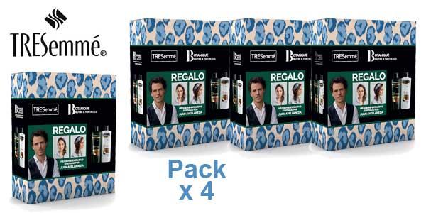 Pack x4 Acondionador + Champú TRESemmé Botanique Aceite de Coco y Aloe Vera x 400 ml/ud chollo en Amazon